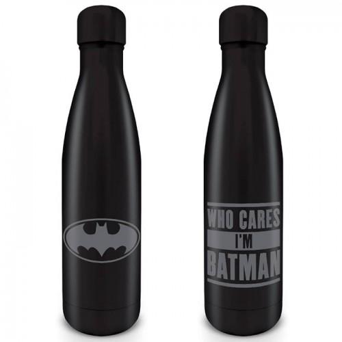 Μεταλλικό μπουκάλι Batman Who cares I'm Batman