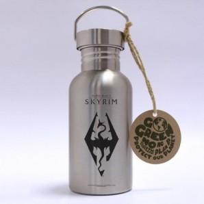 Μεταλλικό μπουκάλι Skyrim - Dragon Symbol
