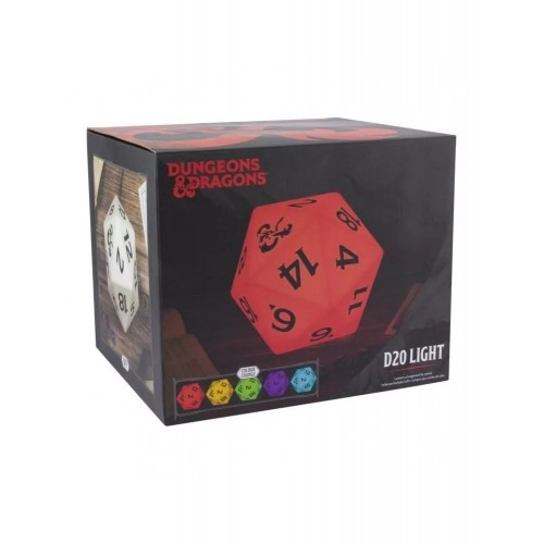 Φωτιστικό Πολύχρωμο D20 - Dungeons & Dragons