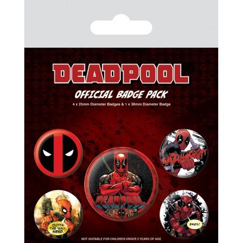 Pins Set Deadpool Marvel