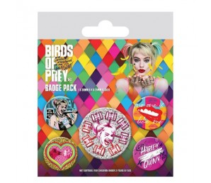 Pins Set Harley Quinn DC - Birds of Prey