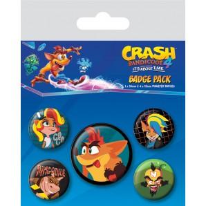Pins Set Crash Bandicoot 4 - It's About Time