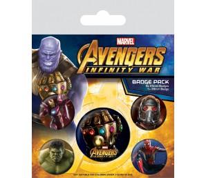 Pins Set Marvel Infinity War - Infinity Gauntlet