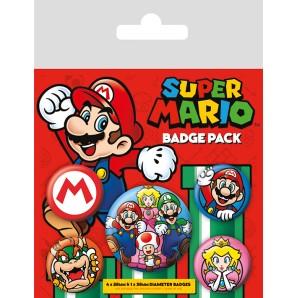 Pins Set Super Mario - Mario Bros