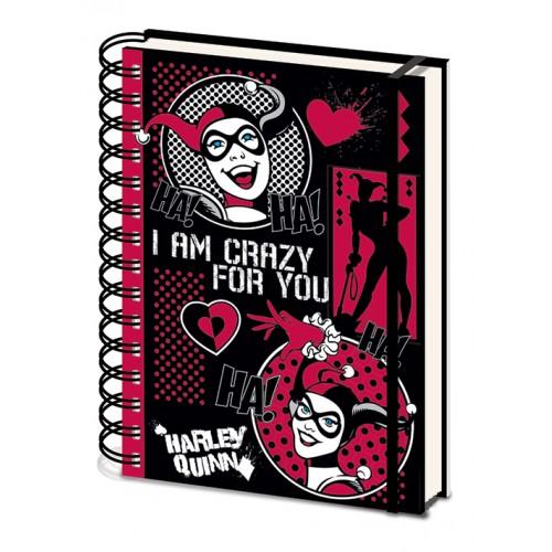 Σημειωματάριο Harley Quinn - I Am Crazy For You