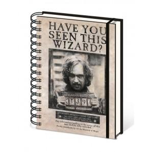 Σημειωματάριο Harry Potter - Wanted Sirius Black