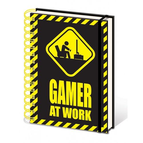 Σημειωματάριο Gamer At Work - Caution Sign