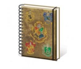 Σημειωματάριο Hogwarts & Houses Crests - Harry Potter