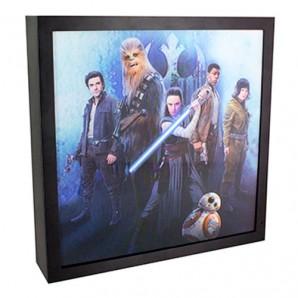 Φωτιστικό Κάδρο 3D The Last Jedi - Star Wars