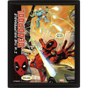 Κάδρο 3D Deadpool - Attack
