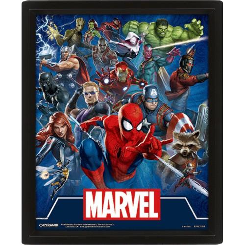 Κάδρο 3D Marvel - Cinematic Icons