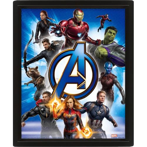 Κάδρο 3D Avengers Endgame - Avengers Unite