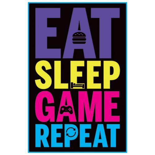 Αφίσα Eat Sleep Game Repeat