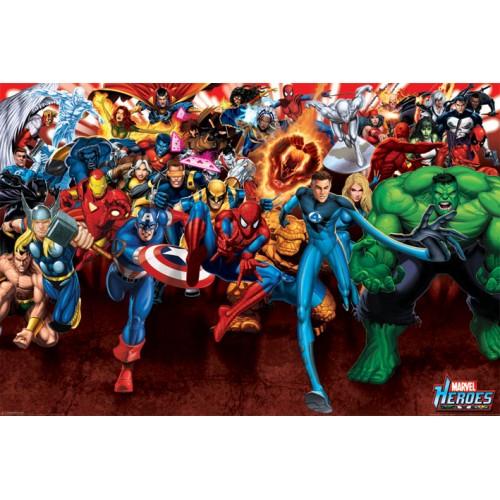 Αφίσα Marvel Heroes - Attack