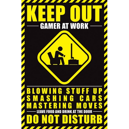 Αφίσα Gamer At Work - Do Not Disturb