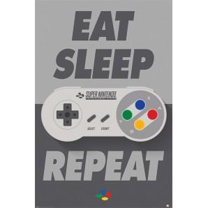 Αφίσα Nintendo - Eat Sleep SNES Repeat