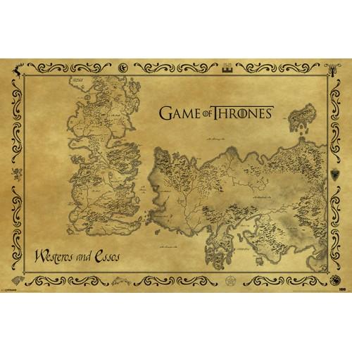 Αφίσα Game of Thrones - Antique Map