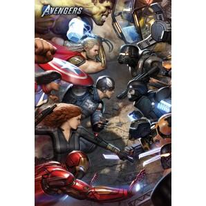 Αφίσα Marvel Avengers Gamerverse - Face Off