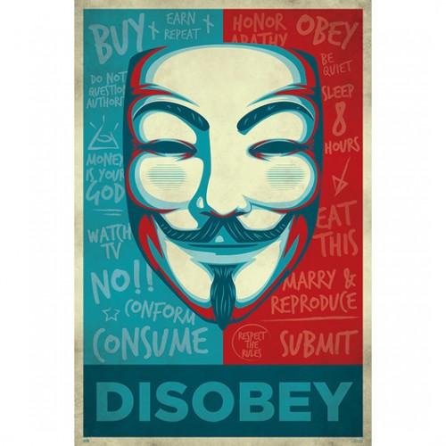 Αφίσα V for Vendetta - Disobey