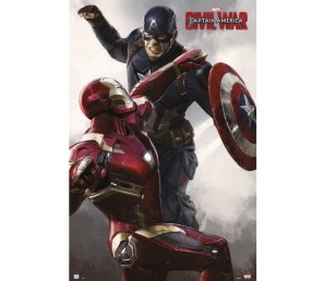 Αφίσα Civil War Cap VS Iron Man - Marvel