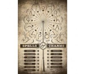 Αφίσα Spell and Charms - Harry Potter