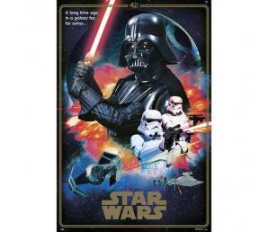 Αφίσα Classic Villains 40 Anniversaries - Star Wars