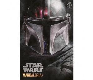 Αφίσα The Mandalorian Helmet - Star Wars