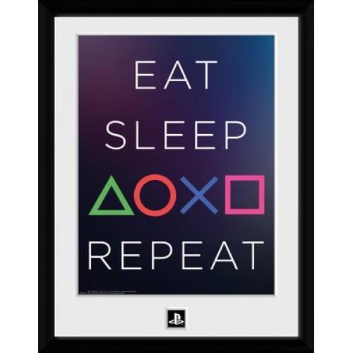 Κάδρο PlayStation - Eat Sleep Repeat