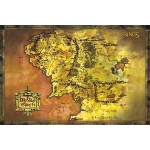 Αφίσα Lord Of The Rings Classic Map
