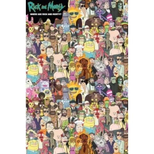 Αφίσα Rick and Morty - Where's Rick